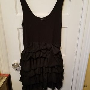 Cute Black Sz S H&M Ruffle skirt dress